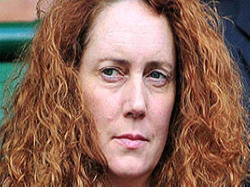 A file picture shows Rebekah Brooks, the former head of media mogul Rupert Murdoch's News of the World newspaper, who was arrested by British police over the phone hacking scandal, at the Wimbledon Tennis Championships in London.