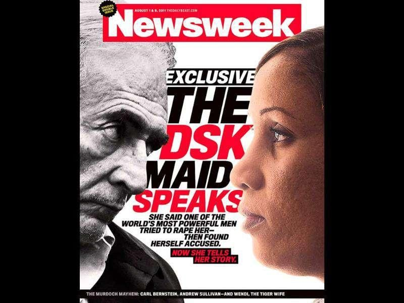 Newsweek cover to be released shows Dominique Strauss-Kahn and the alleged victim in the case, Nafissatou Diallo in this handout image released to Reuters. Diallo gave Newsweek and ABC News permission to identify her by name. Until now, Reuters had kept to the practice in the United States of protecting the identity of alleged rape victims.The New York hotel maid who accused former IMF chief Dominique Strauss-Kahn of attempting to rape her said in an interview published on Newsweek's website on Sunday that he appeared as a