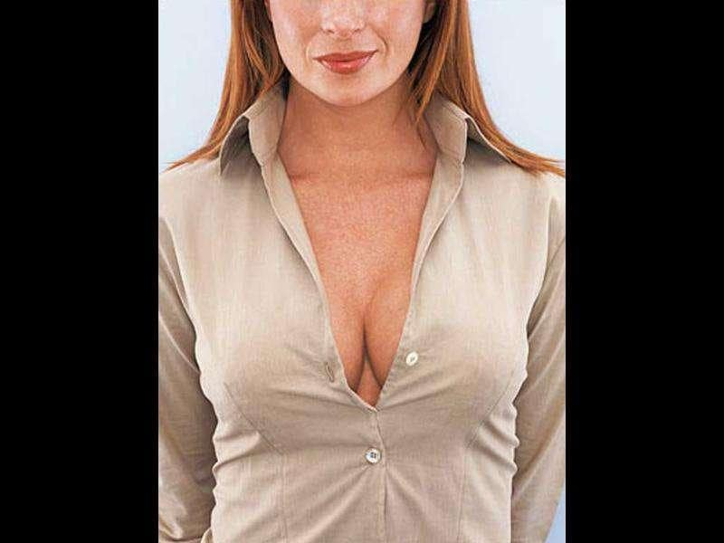 1. Cleavage: In a survey by stylecompare.co.uk, six in ten bosses said plunging necklines were a no-no at work.
