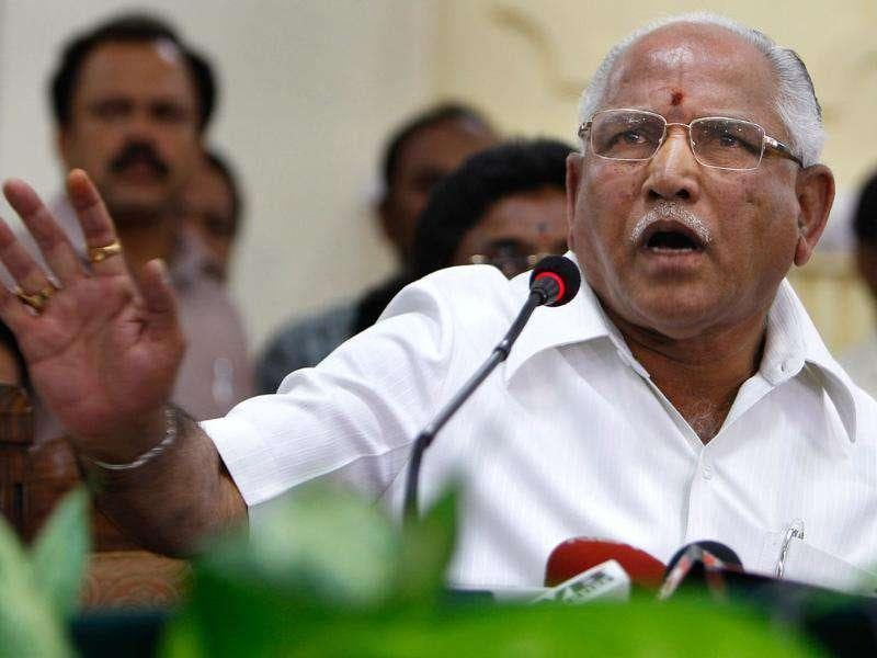 File photo of Karnataka chief minister BS Yeddyurappa at a press conference in Bangalore.