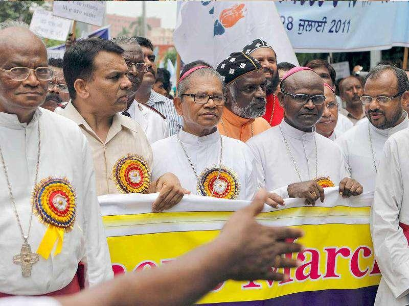Bishops and other leaders of dalit Christians, or the country's lowest-caste