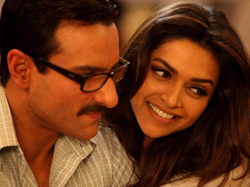 Saif and Deepika share a great camaraderie outside as well.