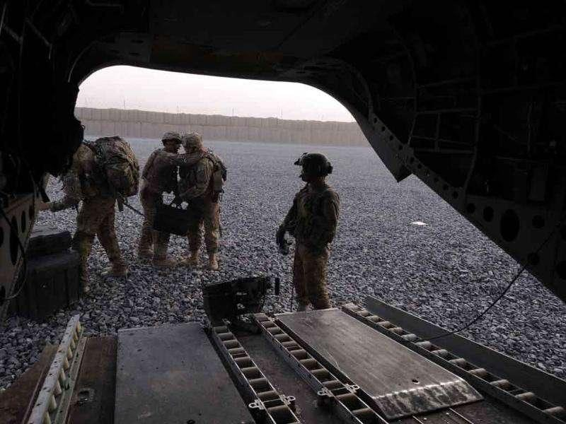 US soldiers arrive in Arghandab district forward base in southern Afghanistan.
