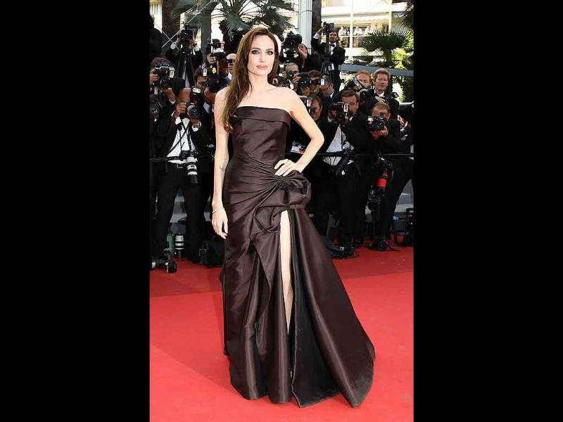 Angelina Jolie looks almost ethereal at The Tree of Life premierre in Cannes.