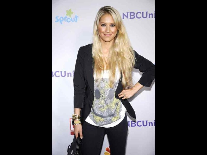 Former professional tennis player Anna Kournikova of Russia attends the NBC Universal Press Tour All-Star Party in Beverly Hills, California.