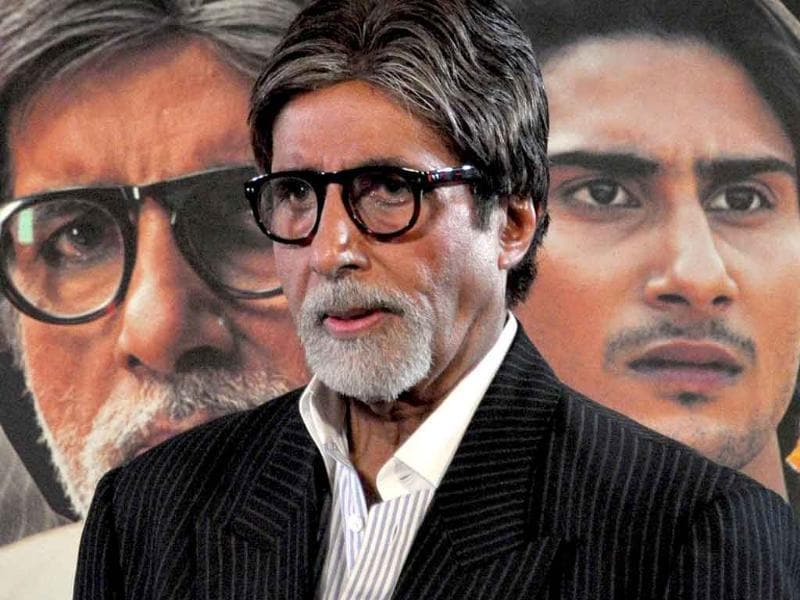 Amitabh Bachchan attends a press conference to promote his forthcoming movie Aarakshan. (AFP)