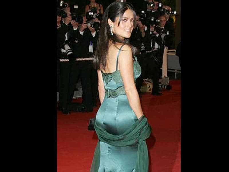 Salma Hayek is known for her perfectly sculpted derrière.