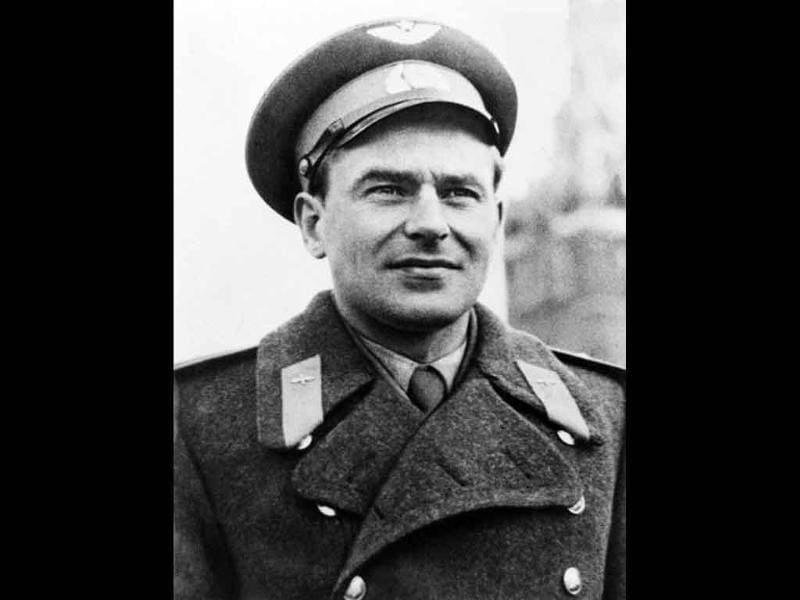 Soviet cosmonaut Gherman Titov smiling before the Vostok 2 space mission. Titov became the second man in orbit, a historic achievement long eclipsed by the first space flight of his friend and rival Yuri Gagarin months earlier.
