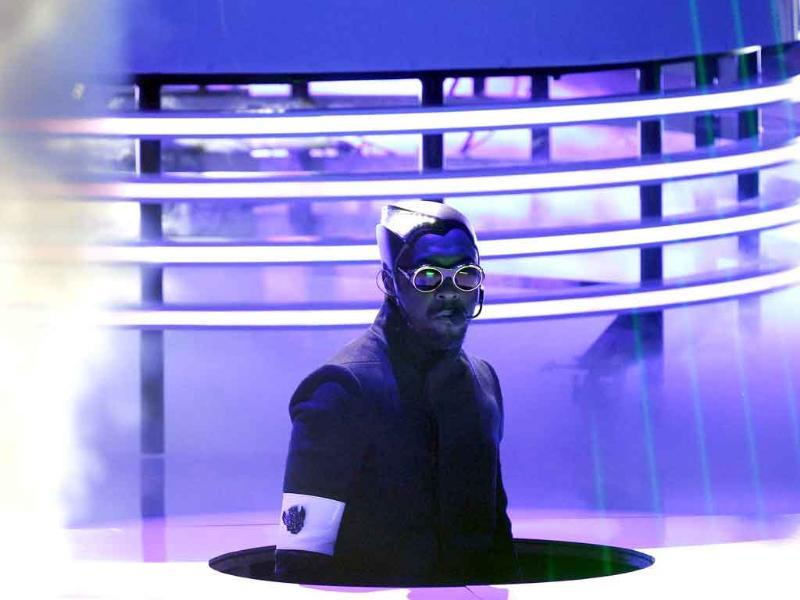 Singer Will.I.Am performs at the Teen Choice Awards at the Gibson amphitheater in Universal City, California.