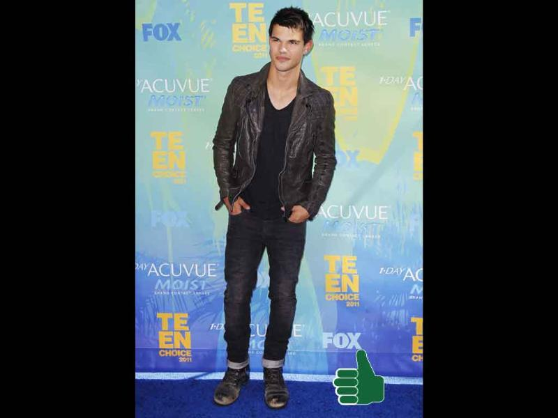 Giving laidback a good name, Taylor Lautner rocks his boy-next-door look.
