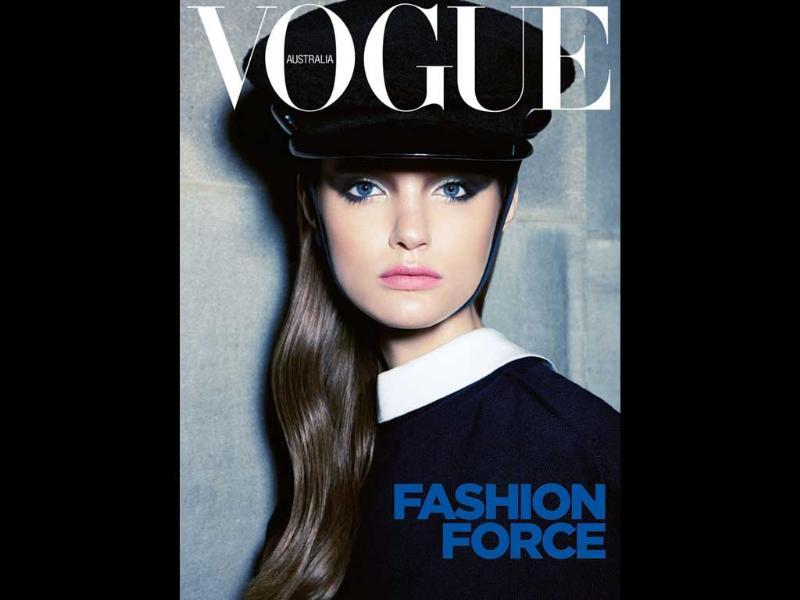 Vogue Australia: Katie FogartyThis model has got the formal look bang on.