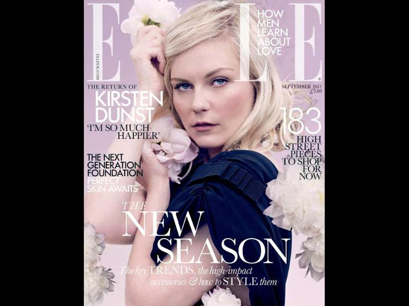 Elle UK: Kirsten DunstThe American actor-model looks pretty and seductive on the cover.