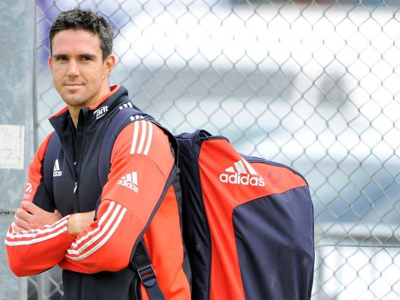 England's Kevin Pietersen waits to bat during a practice session at the Edgbaston cricket ground in Birmingham, central England, ahead of the third Test cricket match against India.