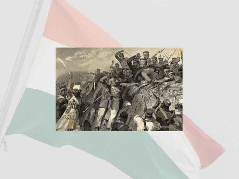 In the now legendary Sepoy mutiny, in 1857 soldiers rebelled against the East India Company rule in the first ever large scale attmept to get rid of the British.
