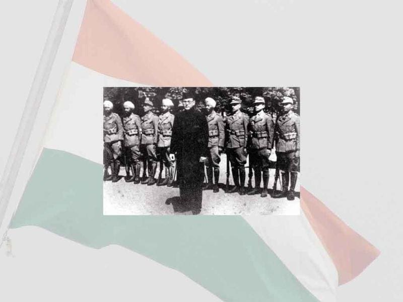 Led by Subhash Chandra Bose, the Azad Hind, a militia, was formed in 1943 outside India.