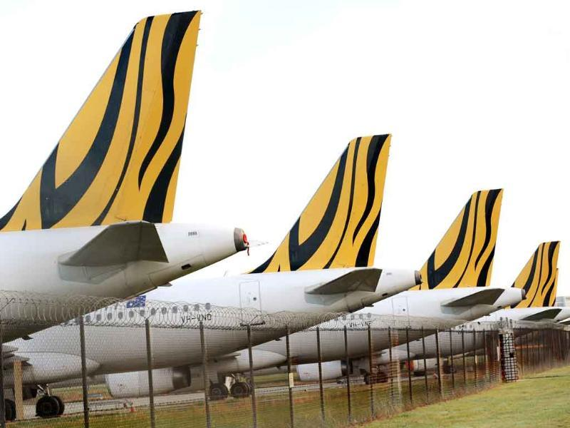Tiger Airways planes sit on the tarmac as the budget carrier resumed flights in Australia, six weeks after regulators slapped a suspension on the airline's domestic services due to safety concerns, in Melbourne.