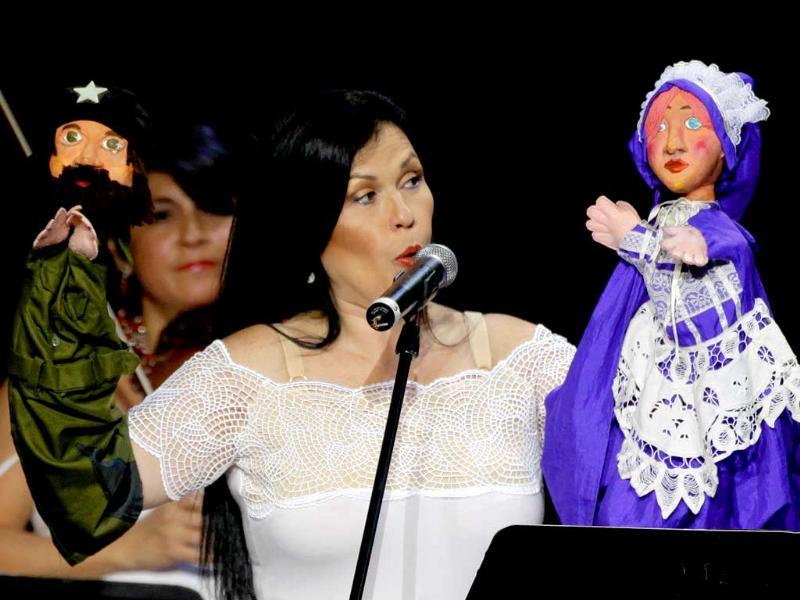 Peru's singer-songwriter Marcela Perez Silva performs at a concert dubbed the