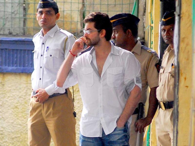 Actor Neil Nitin Mukesh visits Shammi Kapoor's residence to pay his condolences.