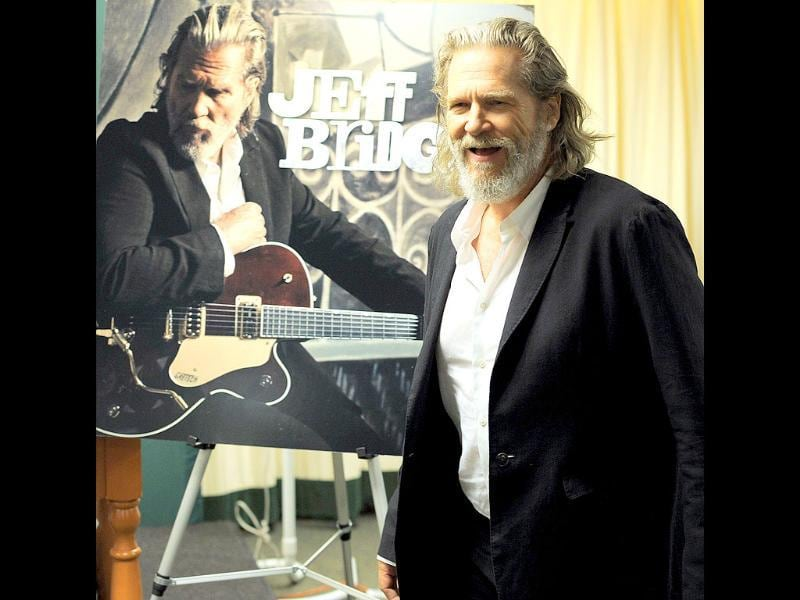 Actor/musician Jeff Bridges signs autographs as he promotes Jeff Bridges at the Barnes & Noble, 5th Avenue in New York City.