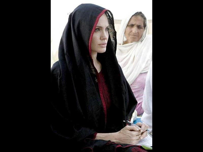 Angelina Jolie is the Goodwill ambassador for the United Nations High Commissioner for Refugees. Since 2001, Jolie has been on field missions around the world and met with refugees and internally displaced persons in more than 20 countries. According to tax records, Angelina Jolie and Brad Pitt donated more than $8 million to charity in 2006 alone. AFP PHOTO / UNHCR / JASON TANNER
