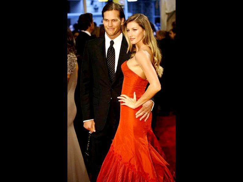 Brazilian supermodel Gisele Bundchen and NFL superstar Tom Brady together earn a whopping $76 million a year, thanks to year-round fashion and endorsement deals for the lady and a four-year, $72 million contract extension for the man.