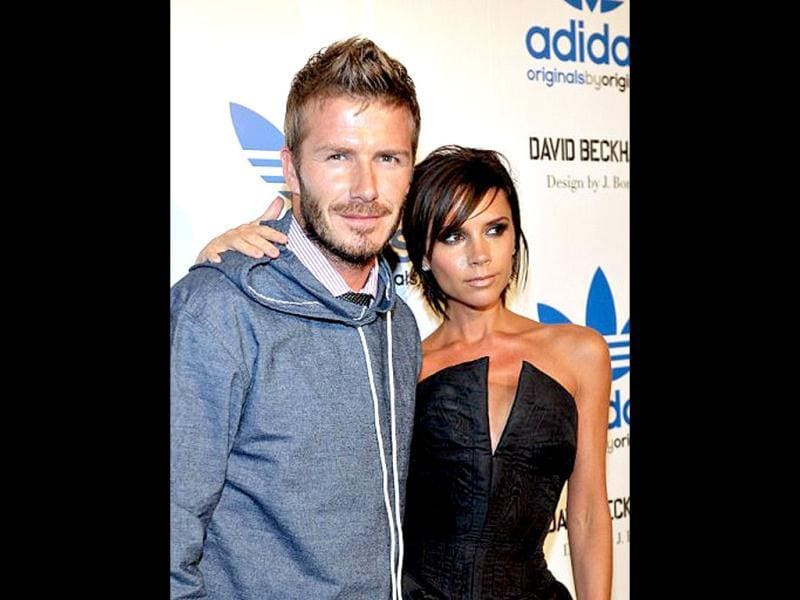 American soccer star David Beckham with wife Victoria Beckham.