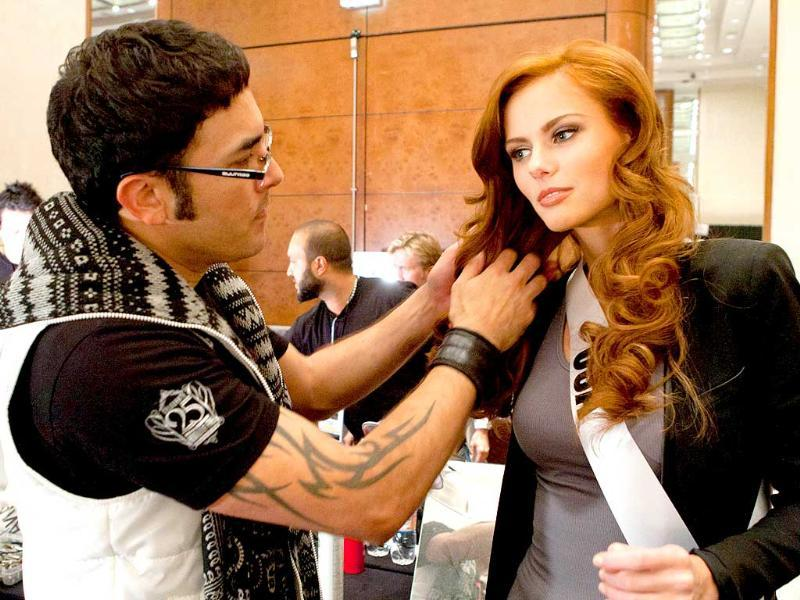 Miss USA 2011, Alyssa Campanella, prepares for registration and fittings upon arriving in Sao Paulo, Brazil.