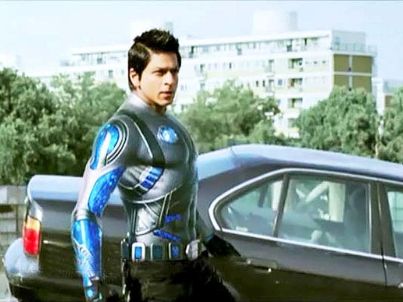 Ra.One's first look was unveiled during Cricket World Cup 2011.