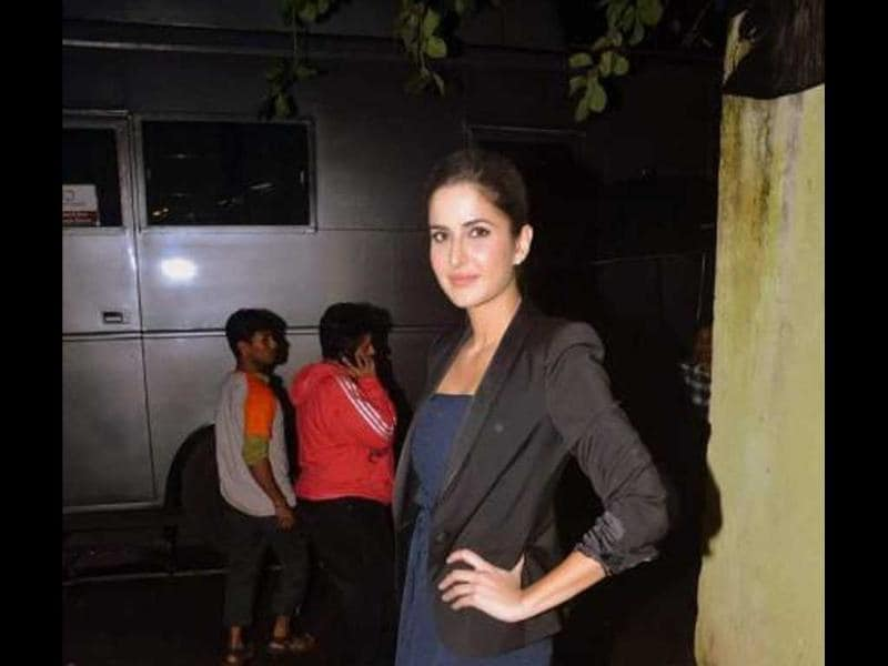 Katrina Kaif strikes a pretty pose as she appears on Comedy Circus.