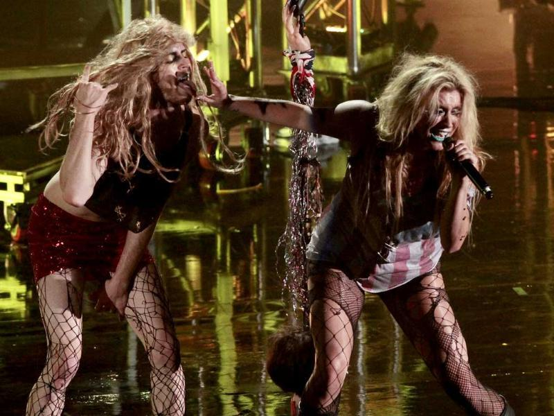 Singer Ke$ha performs at MTV World Stage Mexico. (AP Photo)