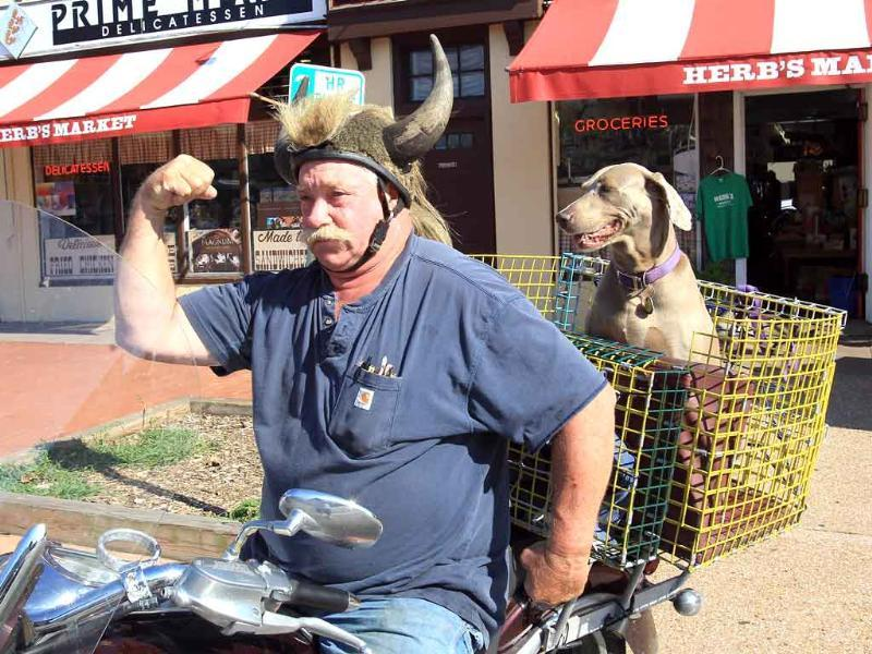 Some residents appeared unaffected by the forecast of the arrival of Hurricane Irene in Montauk, New York.