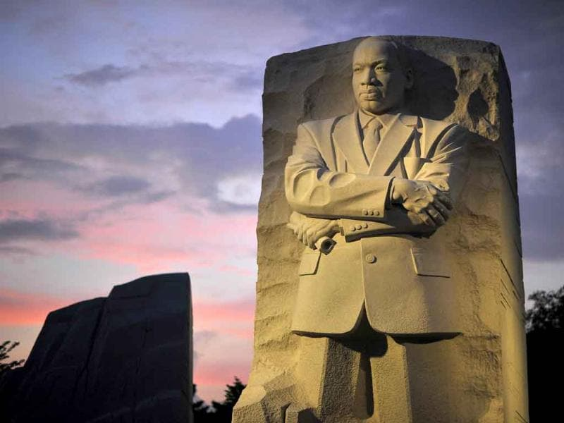 The sculpture of Martin Luther King in Washington DC. The long-awaited dedication of a US national memorial to slain civil rights icon Martin Luther King scheduled for this weekend has been delayed due to Hurricane Irene, organizers said. The dedication -- slated for the 48th anniversary of King's