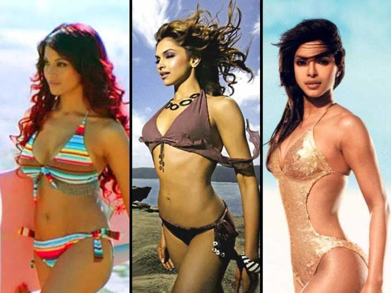 Though a lot of Bollywood leading ladies are swearing off the two-piece, many have set some high standards. Here's a look at some svelte Bollywood beauties in the elusive bikini... For more celeb gossip follow us @htShowbiz