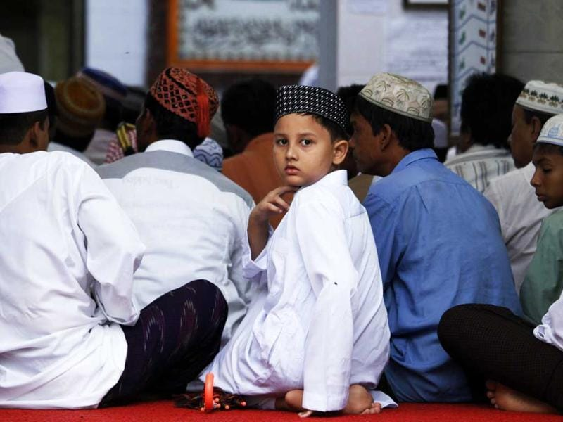 Muslims perform prayers during Eid al-Fitr at Masjid Petchampek in Yangon, to mark the end of Ramadan, the holy month of fasting.