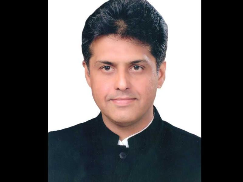Congress spokesperson Manish Tewari is seen in this file photo.