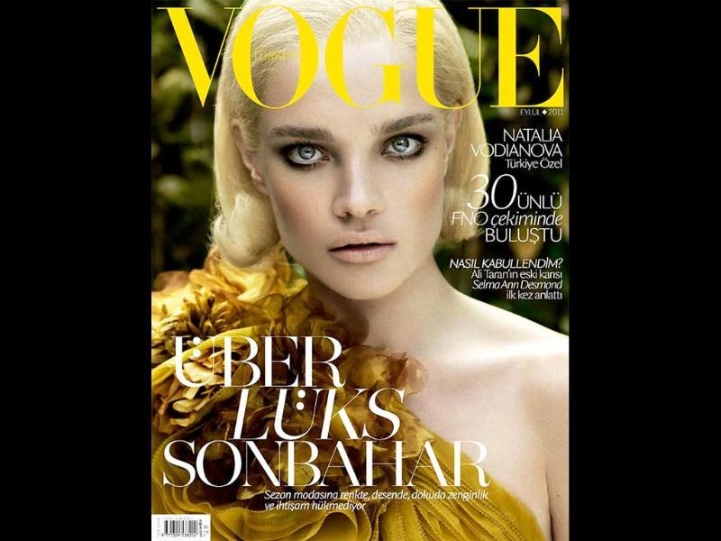 Vogue Turkey: Natalia VodianovaThe defiant gaze, the rebellious lips, Eye of The Tiger is what comes to mind.