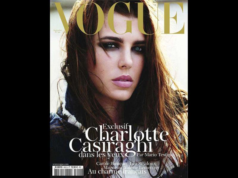 Vogue Paris: Charlotte CasiraghiGranddaughter of legendary actress Grace Kelly, this lady is fourth in line to the throne of Monaco. The regality is in the blood.