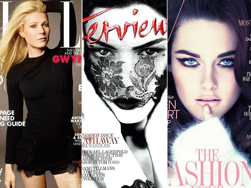 Hollywood stars Anne Hathaway and Kristen Stewart are barely recognisable on these September covers, while supermodels in their characteristic style glam up important fashion magazine covers. See for yourself. Follow us at @htShowbiz