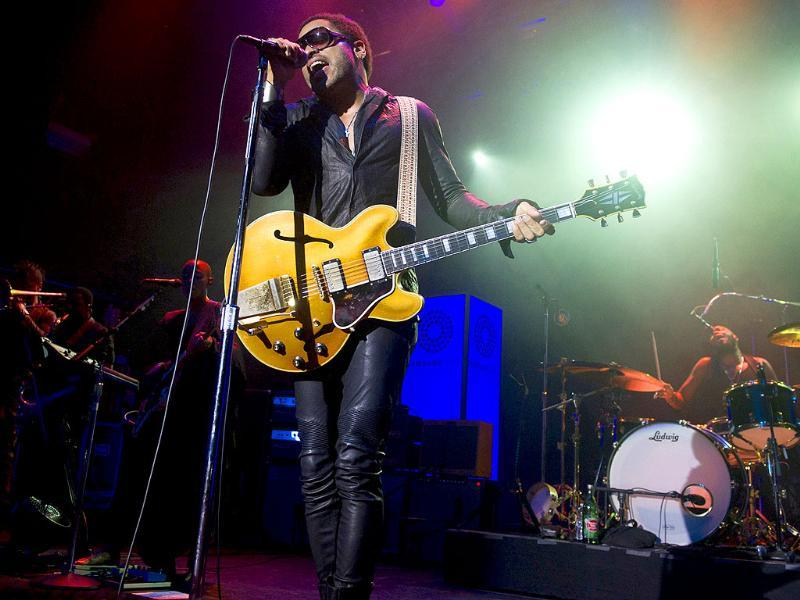 Lenny Kravitz performs at the Samsung Summer Krush concert in New York.