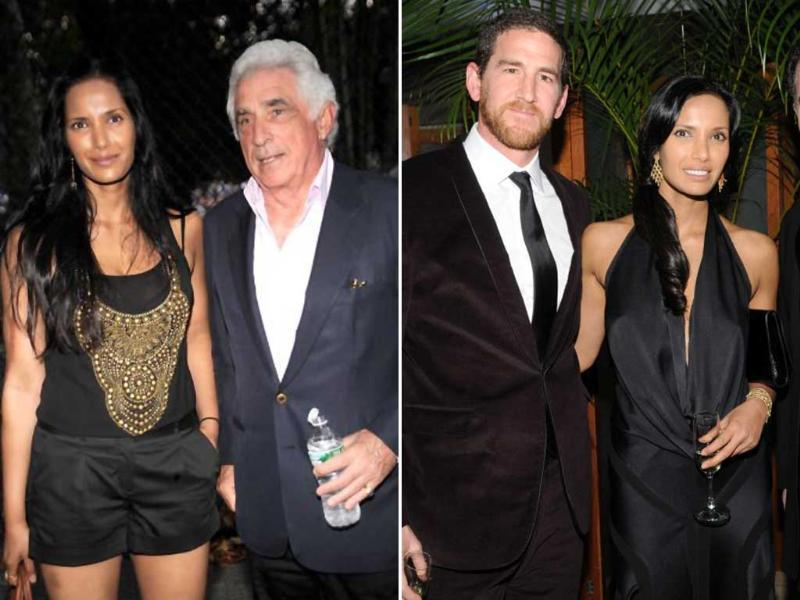While Lakshmi is currently dating Ted Forstmann (Left), Adam Dell(Right) has filed a lawsuit against her for the full custody of their daughter Krishna.