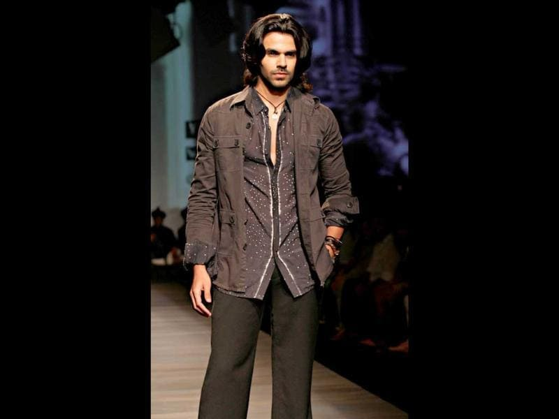 A model sports a shirt with detailed motif by designer Tarun Tahiliani. (Pic: Jasjeet Plaha)