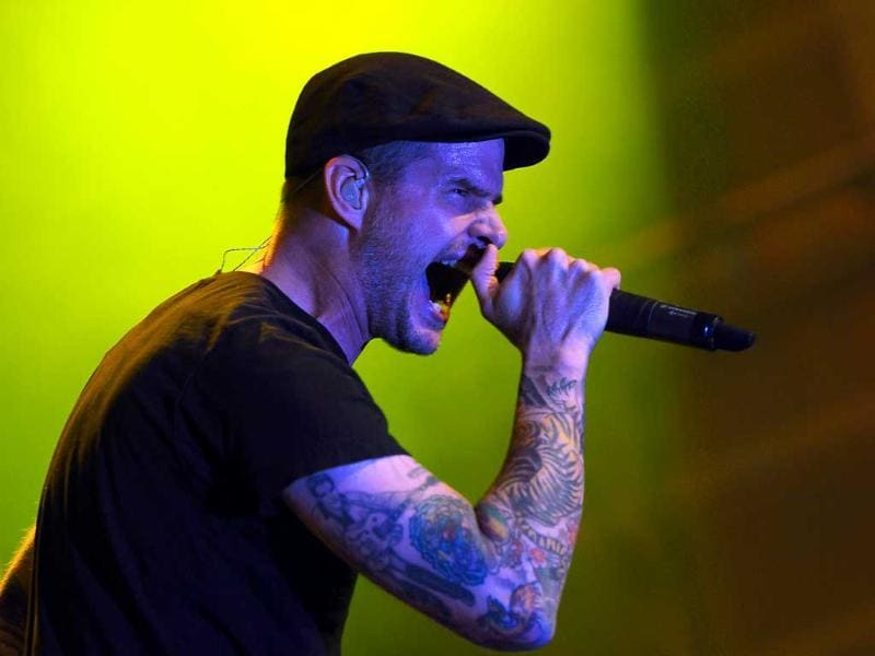 Musical group Dropkick Murphys perform onstage during the First-Ever Call of Duty XP at the Stages at Playa Vista in Los Angeles, California.