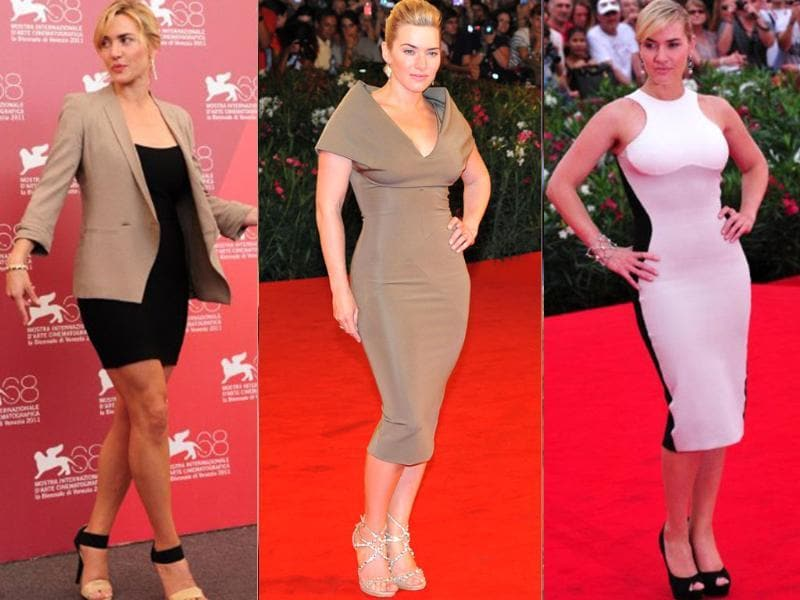 Kate Winslet is our personal favourite! The British actor makes smart, flattering choice of dresses for all her appearances at the 68th Venice Film Festival. Good going, Kate!