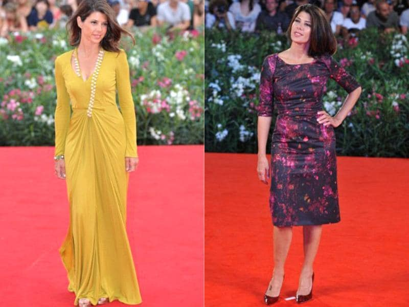 Marisa Tomei fails to make an impression with either dress on the redcarpet.
