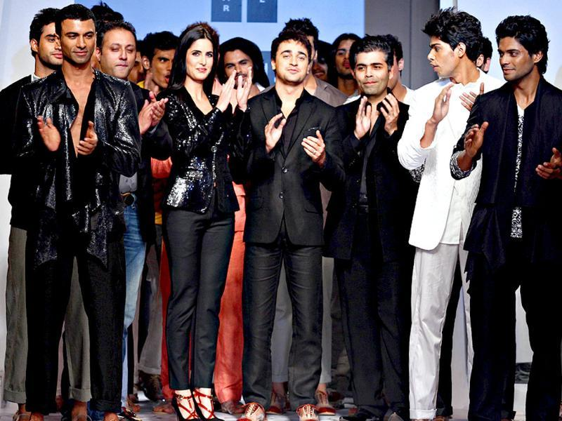 Kat and Imran brought the curtains down of the third edition of Van Heusen India Mens Week (VHIMW) 2011 for designer duo Karan Johar and Varun Bahl on Sunday night.