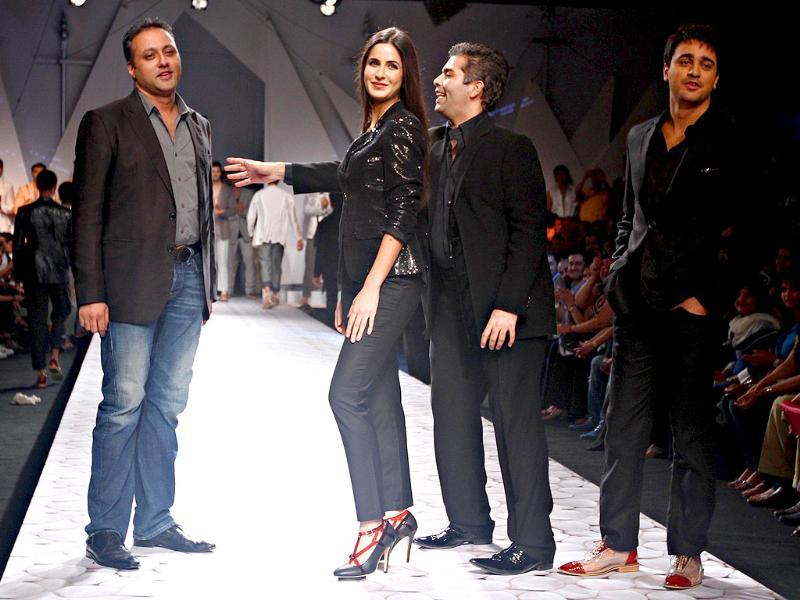 Designers Karan Johar and Varun Bahl seem to be having some fun with their showstoppers.
