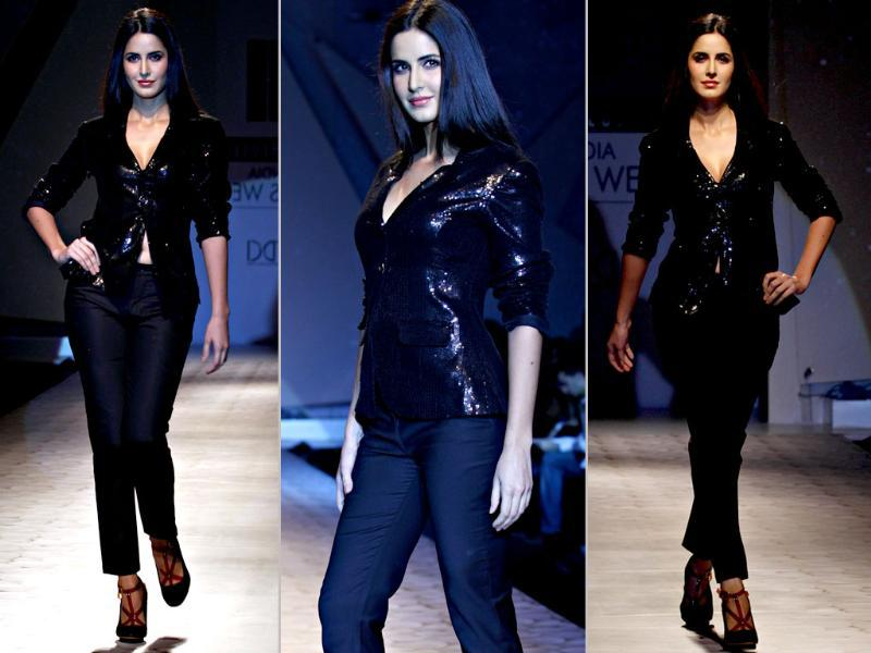 Katrina Kaif harks back to her professional model days, looking every bit the part.