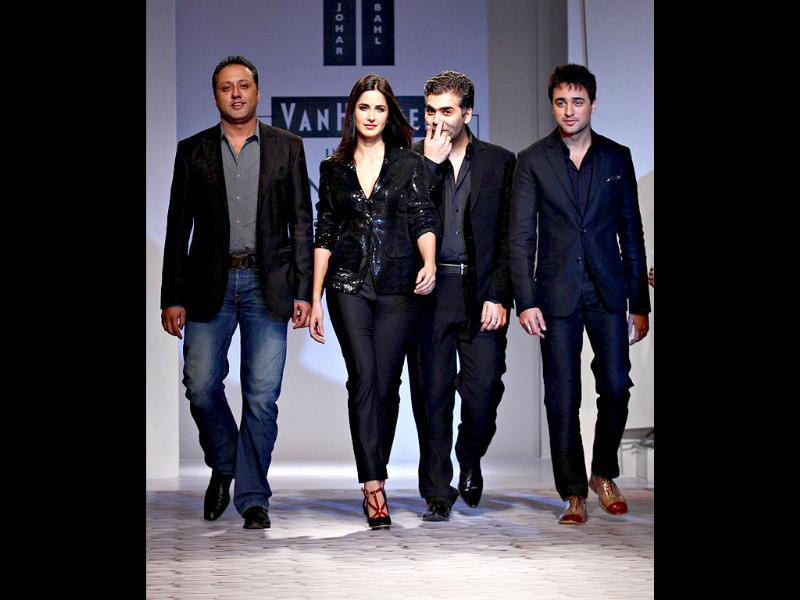 The rising young stars of Bollywood Katrina Kaif and Imran Khan took to the ramp at Van Heusen India Men's Week to promote their new film Mere Brother Ki Dulhan.