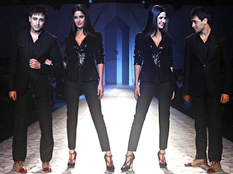 Katrina Kaif, clad in just a sexy blazer over fitted trousers, walked the ramp with her Mere Brother Ki Dulhan co-star Imran Khan who looked absolutely stunning in a black suit. Stay fashion forward, follow us @htShowbiz
