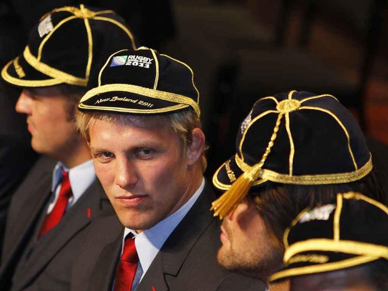 England's captain Lewis Moody attends the official welcome ceremony for the Rugby World Cup at Dunedin City Hall September.